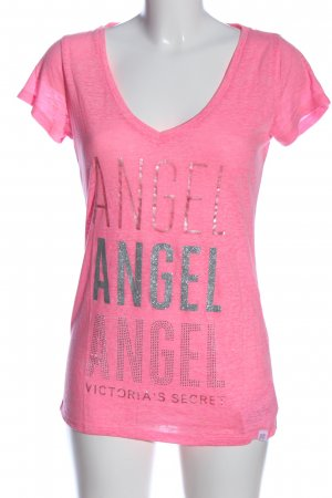 Victoria's Secret V-Ausschnitt-Shirt pink meliert Casual-Look
