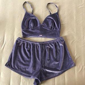 Victoria's Secret Pyjama bleu foncé velours
