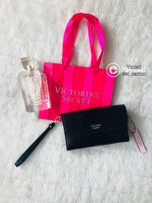 Victoria's Secret VS *Wristlet* kleines Täschchen Clutch Börse schwarz Python Kunstleder Wetlook