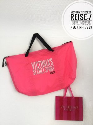 Pink Victoria's Secret Borsa da weekend rosa-nero