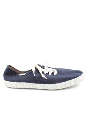 Victoria Sneaker stringata blu-bianco Stampa a tema stile casual