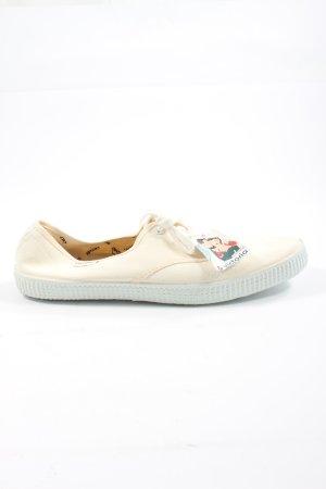 Victoria Sneaker stringata bianco sporco stile casual