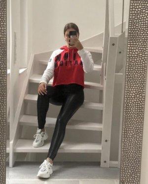 Pink Victoria's Secret Sweat à capuche rouge-blanc
