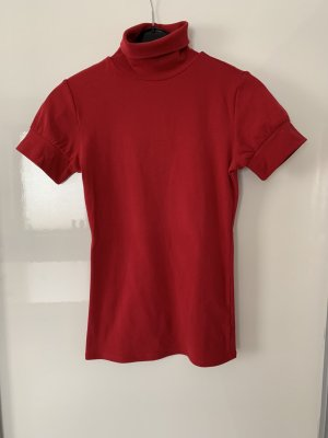 VS Neckholder Top brick red cotton