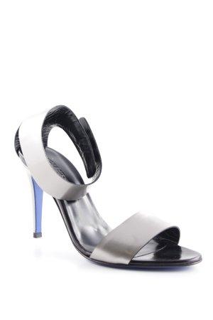 VICTORIA SENKPIEL High Heel Sandaletten silberfarben Elegant