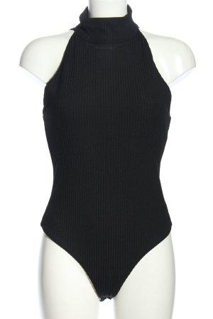 Victoria Sport Shirtbody schwarz Streifenmuster Casual-Look