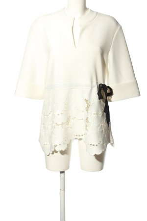 Victoria  Victoria Beckham Long Blouse natural white-black casual look