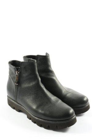 Victoria Wood Laarsjes met rits zwart casual uitstraling