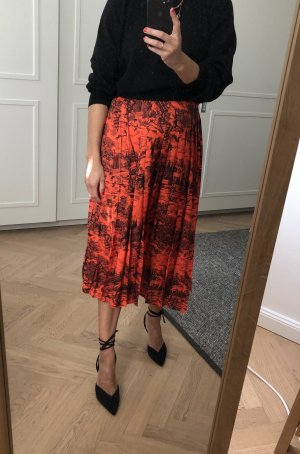 Victoria  Victoria Beckham Jupe plissée rouge