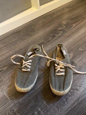 Victoria Sneaker stringata grigio-verde-cachi