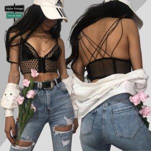 Victoria's Secret Bandeau top zwart-beige