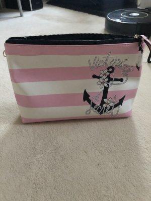 Pink Victoria's Secret Bolso de mano blanco-rosa