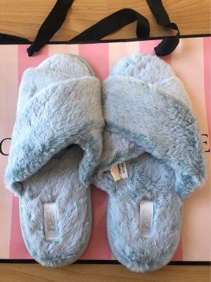 Pink Victoria's Secret Pantoufles bleu azur