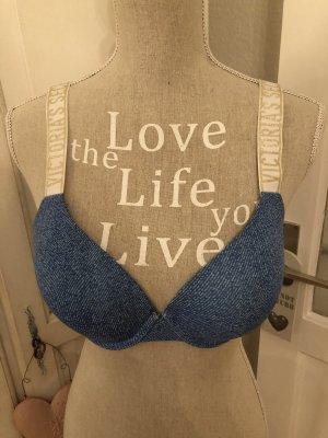 Victorias Secret T-Shirt BH *Jeans Optik Glitzer Schriftzug VS*Neu mit Etikett