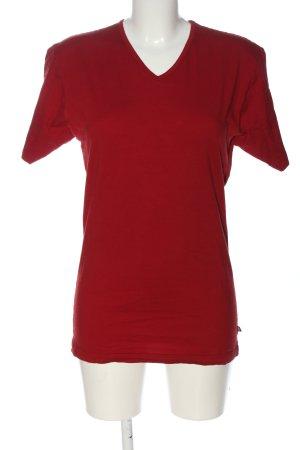 Victorinox Camisa con cuello V rojo look casual