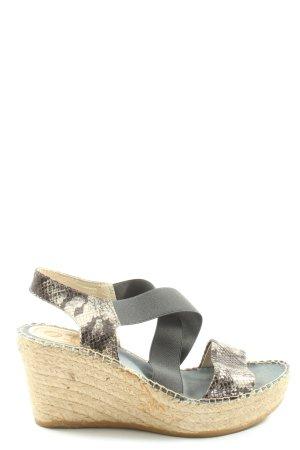 Vidorreta Sandales à plateforme gris clair-blanc cassé imprimé allover