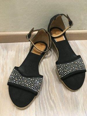 Vidorreta T-Strap Sandals black-silver-colored