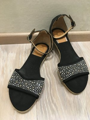 Vidorreta Sandalo con tacco alto e lacci a T nero-argento
