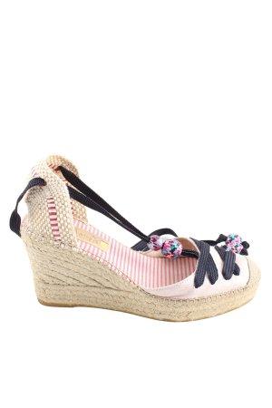 Vidorreta Wedges Sandaletten creme-pink Streifenmuster Casual-Look