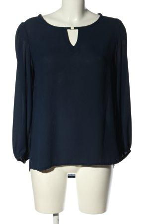 vie ta vie Langarm-Bluse blau Casual-Look