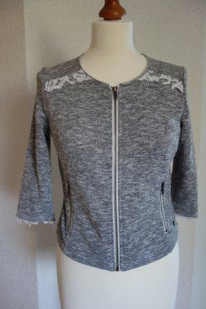 QS by s.Oliver Chaqueta estilo camisa gris