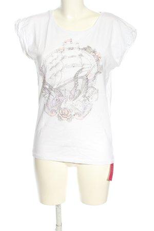 VIENTO T-Shirt Motivdruck Casual-Look
