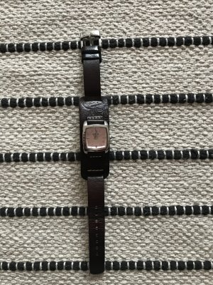 Fossil Watch With Leather Strap brown-pink