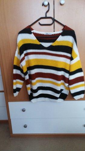 vierfärbiger Pullover