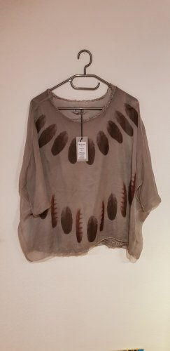 40 Grad Short Sleeved Blouse taupe-grey brown