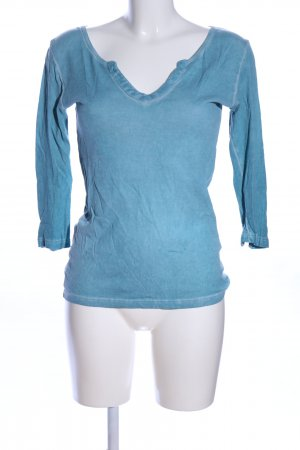 Sweatshirt blau meliert Casual-Look
