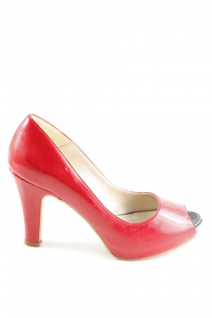 Peeptoe Pumps rot Casual-Look