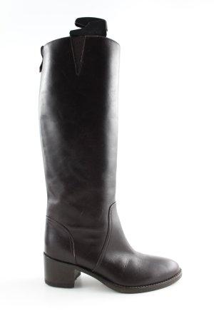 Vigneron Absatz Stiefel schwarz Casual-Look