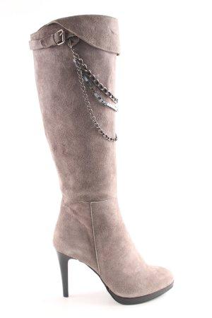 Vigneron High Heel Stiefel hellgrau Casual-Look