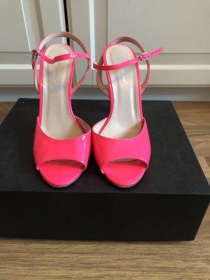 Vigneron Sandalias de tiras rosa neón