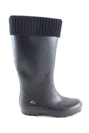 Viking Gummistiefel schwarz schlichter Stil