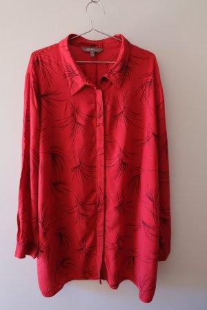 Ulla Popken Long Sleeve Blouse black-red viscose