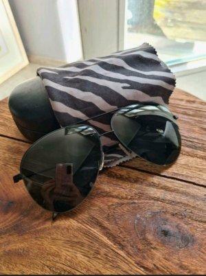 Victoria Beckham Owalne okulary przeciwsłoneczne czarny