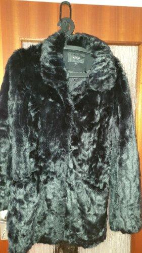 Vila Clothes Giacca in pelliccia nero