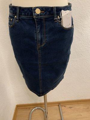 Vila Gonna di jeans blu-blu scuro