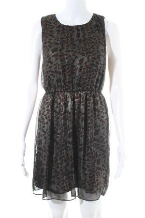 Vila A-Linien Kleid Animalmuster extravaganter Stil