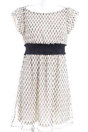 Vila Abendkleid hellbeige-schwarz abstraktes Muster Casual-Look