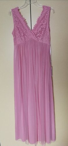 Vila Abendkleid in rosa, Maxidress