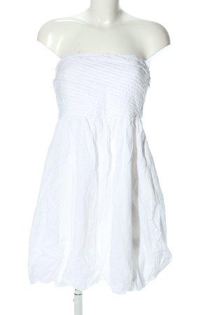 Vila Abito a fascia bianco stile casual