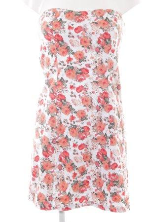 Vila Bandeaukleid florales Muster Romantik-Look