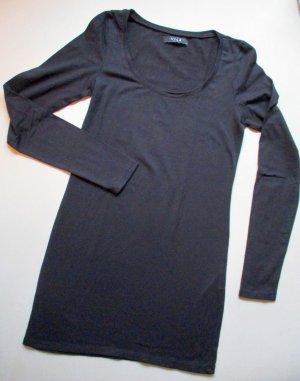 VILA Basic Langarm Shirt schwarz