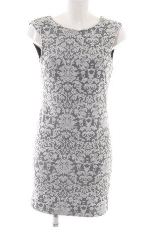 Vila Robe crayon gris clair-blanc imprimé allover élégant