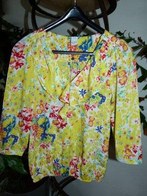 VILA Bluse Blumen Rüschen Gr.S/36 gelb *NEU*