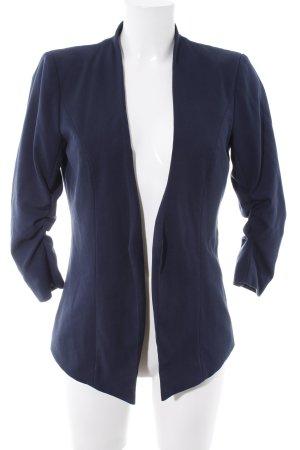 Vila Blazer stile Boyfriend blu scuro elegante