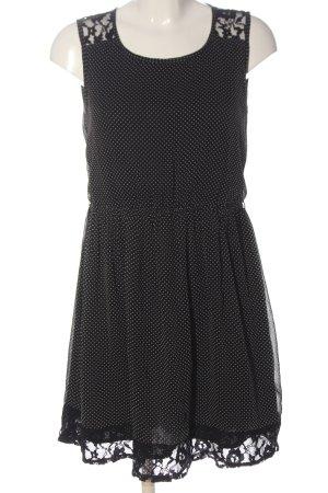 Vila Clothes A-Linien Kleid schwarz Allover-Druck Elegant