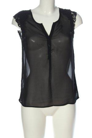 Vila Clothes ärmellose Bluse schwarz Casual-Look